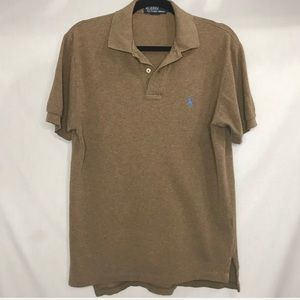 Polo by Ralph Lauren Brown Cotton Polo Shirt Small